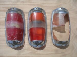 Lot of (3) Vintage Original 55 - 63 Mercedes 190 SL Tail Lights K 3219