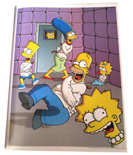 """SIMPSONS TV SHOW MINI POSTER 2007 14""""X10 1/2"""" FAMILY IN STRAIGHTJACKETS PAD CELL"""