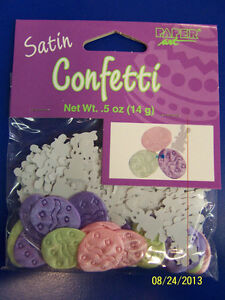 Easter Bunny & Eggs Pastel Spring Holiday Party Table Decoration Satin Confetti
