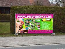 Werbebanner Werbeplane PVC-Plane Banner 300 x 100cm, Druck u. Ösen, wetterfest
