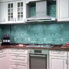 Self-adhesive Blue Mosaic Wall Paper Sticker Contact Paper Bathroom Waterproof