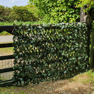 Artificial Leaf Trellis Screen Expanding Garden Fence Privacy Screening 1m x 2m