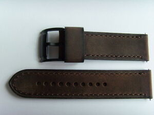 Fossil Original Spare Leather Strap ME3127 Watch Band Watch Strap Braun 24 MM