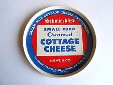Vintage Borden Company Schmierkase Small Curd Cottage Cheese Tin Lid Only