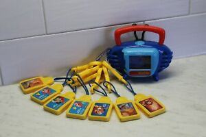 Disney Kid Clips Music Player 7 Cartridges - Boombox - Vintage 2002 Tiger