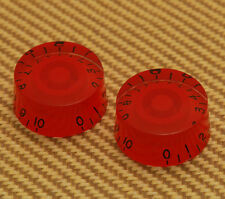 (2) Red Metric Speed Knobs For 6mm Split Shaft Pots Import Guitars PK-MSI-RED