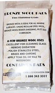 Lustersheen 8 Pad Pack Bronze Wool Grade Medium Fine
