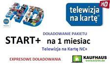 Doladowanie TnK NC+ START+ 1M Telewizja na karte Aufladung Polsat TVN POLSAT TVP