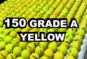 """150 """"A"""" Grade Used YELLOW PRACTICE Balls --- & FREE SHIPPING  210415"""