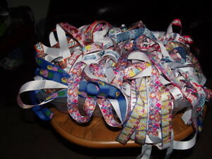 Mixed Bulk Lot of 24 Ribbon Scraps! Great for DIY Scrapbooking Hairbow Crafts