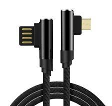 Cavo USB-USB Micro - connettori 90 Gradi -Carica Veloce 2,4A-Sync - 1 metro 2 pz