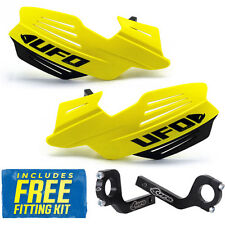 UFO Vulcan Universal MX Enduro Handguards in RM Yellow Standard, Fat Bars