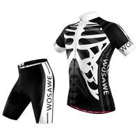 Skeleton Cycling Jersey Top Shirt Shorts Pad Tights Kits Bicycle Sportswear