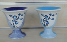 Pythagoras cup of justice evil eye flower protector light blue and blue set