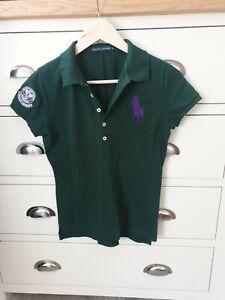 Ladies Wimbledon Green Ralph Lauren Polo Shirt 2011