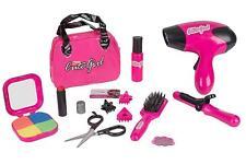 Beauty Salon Play Set Makeup Kids Girl Hairdryer Curling Iron Lipstick Gift New