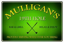 Mulligan's 19Th Hole Bar And Grill Bar Reproduction Sign 12x18