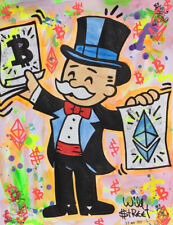 Will $treet original painting / COA Monopoly art banksy faile alec nft kaws Pop