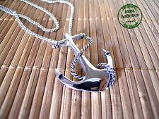 Collana Ciondolo Ancora Anchor Unisex in Acciaio Nichel Free color Argento Glam