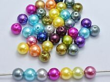 500 Pcs Mixed Color Plastic Faux Pearl Round Beads 10mm Imitation Pearl