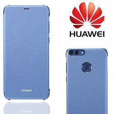 Genuine Flip Cover for Huawei P Smart Fabric Slim Folio Case Premium Fabric Blue