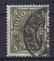 DR Mi Nr. 229 W, geprüft Infla, gest. Frankfurt, Posthorn Dt. Reich 1922, used
