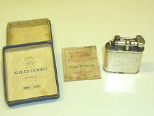 """DUNHILL """"UNIQUE"""" LIFTARM LIGHTER - SILVER PLATED - PAT. 143752 - 1927 - FRANCE"""