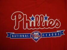 MLB Philadelphia Phillies Baseball Sportswear Fan Apparel Red T Shirt Size L