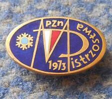 48 th POLAND CHAMPIONSHIPS SKI SKIING SKI JUMPING NORDIC 1973 GOLD VERSION PIN