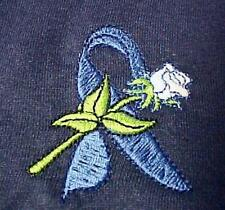 Colon Cancer T-Shirt XL Child Abuse Awareness Ribbon Rose Navy S/S Unisex New