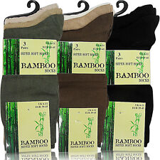 NEW MENS GENTS 3 FINE BAMBOO ANTI BACTERIAL ODOUR EATER SUPER SOFT ANKLE SOCKS