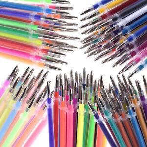 48 Color Gel Pens Refills Coloring Art Drawing Glitter Neon DIY Refills Gift