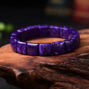 12*12mm Top Quality Natural Purple Charoite Crystal Gemstone Beads Bracelet 2020