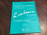 The Best of Poulenc 35 Selected Songs Voice and Piano Original Keys Vo 050499431