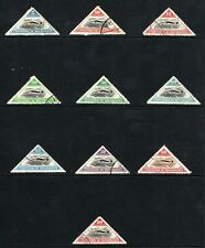 1935 Mozambique Company set of 10 used for Inauguration of air route