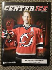 New Jersey Devils Center Ice Program 2013-14 Travis Zajac 4/13/2014