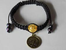 Adjustable Antique Bronze Astrology Star Sign Sagittarius Shamballa Bracelet