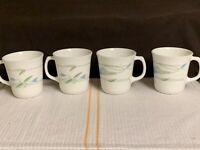 SET OF 4 - CORNING CORELLE - SHADOW IRIS - COFFEE CUPS / MUGS - EUC