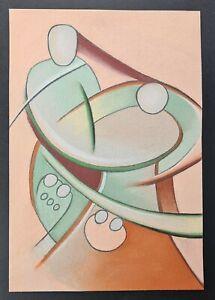Interesting and Unusual Stylised Futurist? Figural Painting, Unsigned