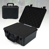 Black Large Waterproof Hard Plastic Case Bag Tool Rugged Compact Travel Storage