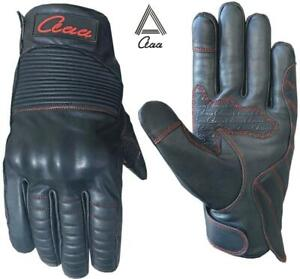 Motorbike motorcycle Winter Real Leather Gloves Warm Water Resistant TouchScreen