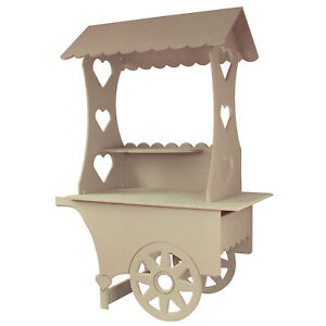 Mini Candy Cart Weddings Sweets Stall Birthday Christening Favours Stand MDF Woo