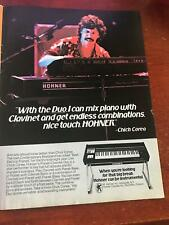 1979 VINTAGE 8X11 PRINT AD FOR HOHNER PIANET/CLVINET DUO + PIANIST CHICK COREA