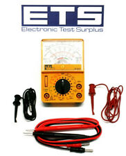 Ideal Industries 61-614 Analog Multi-Meter With Test Leads & Hook Clips