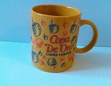 "COPA DE ORO COFFEE LIQUEUR promotional mug cup coffee gold 3 3/4"" tall"