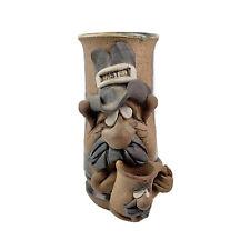 Vintage 1980 Mahon Pottery Stoneware Mug Wasted Ugly Face Large