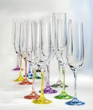 Bohemia Kristall Sektglas, Sektkelch 190 ml Champagnerglas Rainbow