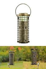 Bird Feeder Seed Feeders Hanging Feeding Ports Squirrel Proof Tan 3-Lb Capacity