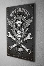 Tin Sign Retro Biker Motorcycle Club