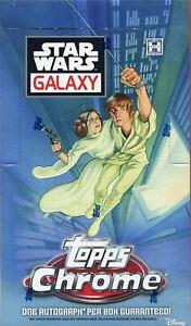 Star Wars Chrome Galaxy Factory Sealed Hobby Box 18 Packs